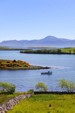 IBLMAN01646758 View from Rosturk over Clew Bay, looking towards Croagh Patrick mountain, County Mayo, Connacht province, Republic of Ireland