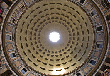 IBLHAN00599667 Cupola, interior view of the Pantheon, Rome, Italy