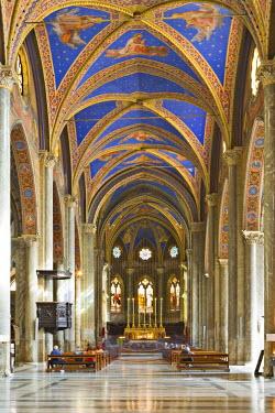 IBLHAN00599674 Interior view of Santa Maria sopra Minerva Church (Gothic church), Rome, Italy