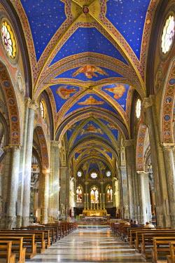 IBLHAN00599676 Interior view of Santa Maria sopra Minerva Church (Gothic church), Rome, Italy