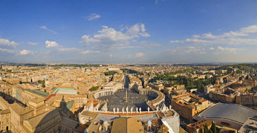 IBLHAN00600608 View of the city and St. Peter's Square as seen from the dome of St. Peter �Ģs Basilica, Rome, Italy