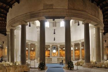 IBLHAN01491227 Interior view of San Stefano Rotondo, Rome, Italy