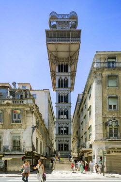 IBLBLO03714955 Santa Justa Elevator, Elevador de Santa Justa or Elevador do Carmo, Baixa, Lisbon, Lisbon District, Portugal
