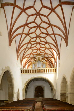 IBLHAN01845949 Ribbed vault, Fortified Church of Prejmer, UNESCO World Heritage Site, Romania