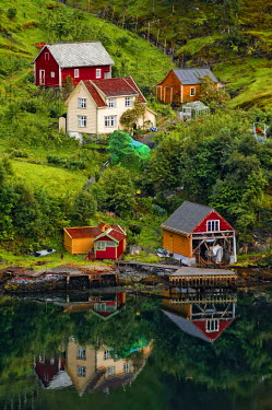 IBLGZS00296153 Settlement with timber buildings, Drangedal, Telemark, Norway, Scandinavia