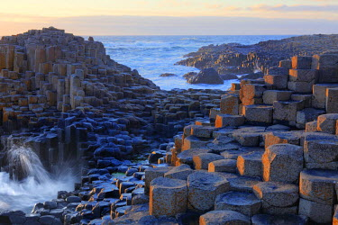 IBLMAN02084940 Basaltic columns, Giant's Causeway, Causeway Coast, County Antrim, Northern Ireland, United Kingdom