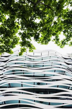 IBLDJS03579974 Modern house facade, Passeig de Gracia, Barcelona, Catalonia, Spain