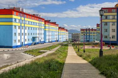 IBLGAB03723566 Coloured apartment houses, Anadyr, Chukotka Autonomous Okrug, Russia
