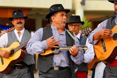 IBLMSI00293297 Folklore group in Maspalomas, timple, Gran Canaria, Spain