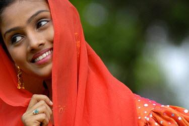 IBLOMK00977163 Actress, Veli Park, near Trivandrum, Thiruvanathapuram, Kerala, South India