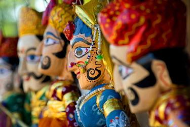 IBLOMK03602916 Marionettes, traditional crafts, Jodhpur, Rajasthan, India