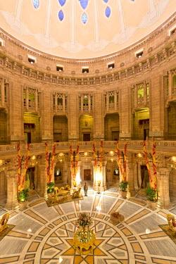 IBLOMK03603033 Reception, Palace Hotel, Umaid Bhawan Palace, Jodhpur, Rajasthan, India
