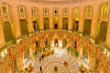 IBLOMK03603036 Reception, Palace Hotel, Umaid Bhawan Palace, Jodhpur, Rajasthan, India