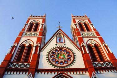 IBLBLO01768252 Catholic Church, Bharathi Street, Pondicherry, French Quarter, Tamil Nadu, India