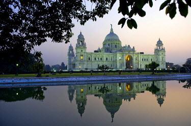 IBLOMK01887264 Queen Victoria Memorial, museum, Calcutta or Kolkata, West Bengal, India