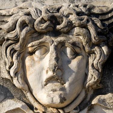 IBLGAB01120887 Apollo temple, Medusa head, Didyma, Turkey