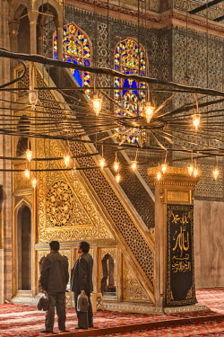 IBLGAB02346582 Sultan Ahmed Mosque or Blue Mosque, Minbar, Istanbul, Turkey