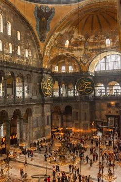 IBLGAB02346609 Hagia Sophia, interior view, Istanbul, Turkey