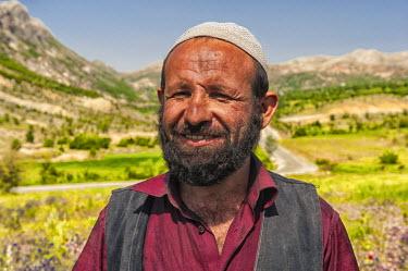 IBLGAB02442941 Portrait of a Turkish shepherd, Adiyaman Province, East Turkey, Turkey