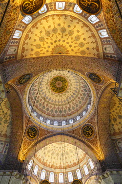 IBLMAN03000599 Domes in Yeni Cami, New Mosque, Eminoenue district, Istanbul, Turkey, Istanbul, Istanbul Province, Turkey