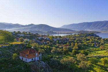 IBLMAN03555862 Village of Kapikiri on Lake Bafa, Mugla Province, Aegean region, Turkey