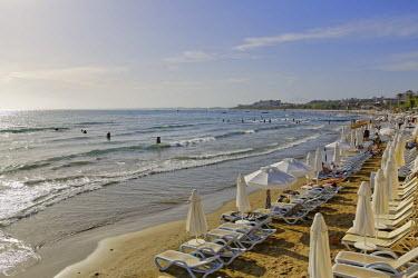 IBLMAN03773210 Beach in Side, Pamphylia, Turkish Riviera, Antalya Province, Turkey