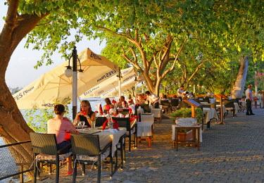 IBLMAN03773219 Restaurant on the promenade, Side, Antalya Province, Turkey