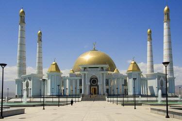 IBLGAB01113565 Ashgabat, Spiritual Mosque of Turkmenbasy, Turkmenistan