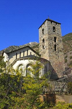 IBLGVA01902465 Church of Sant Esteve, Barri Antic district, behind Mt. Pic de Carroi, Andorra La Vella, Andorra
