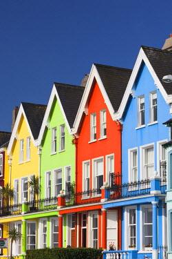 UK04142 UK, Northern Ireland, County Antrim, Whitehead, colorful houses