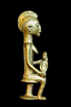 IBLGUF00277913 Bronze statue, West Africa