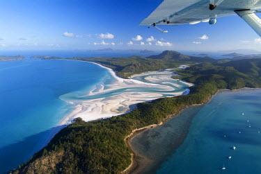 IBLGZS00746859 Aerial shot of Whitehaven Beach, Whitsunday Island, Great Barrier Reef, Queensland, Australia, Oceania