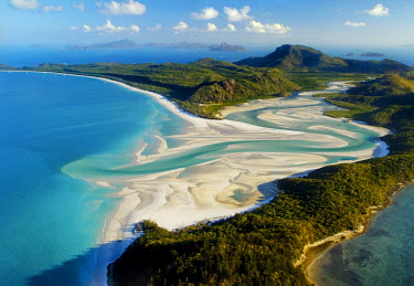 IBLGZS00746929 Aerial shot of Whitehaven Beach, Whitsunday Island, Great Barrier Reef, Queensland, Australia, Oceania