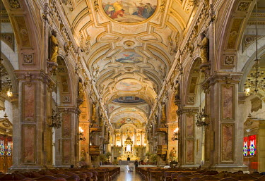IBLHAN00603676 Cathedral interior, Santiago de Chile, Chile
