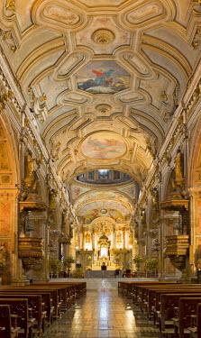 IBLHAN00603677 Cathedral interior, Santiago de Chile, Chile