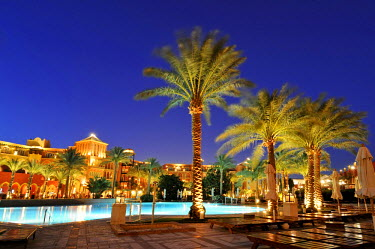 Inner courtyard of the Grand Resort Hotel, Hurghada, Egypt, Africa