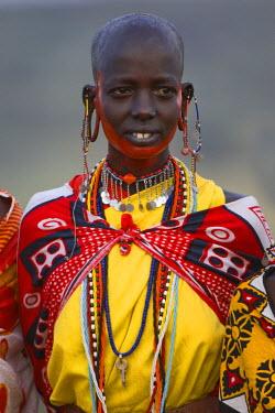IBLGAB01075176 Masai nomad woman, Masai Mara, Kenya, East Africa, Africa