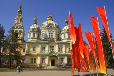 IBLGAB01093183 Russian Orthodox Zenkov Cathedral, Panfilov Park, Almaty, Kazakhstan