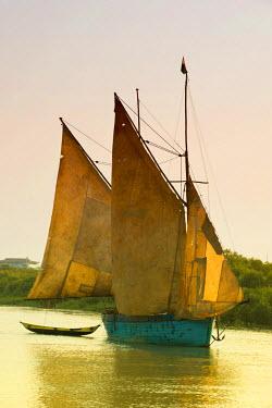 IBLGAB01452854 Sailing boat, Morondava, Madagascar, Africa