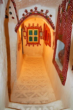Interior of a traditional house Ghadames Libya