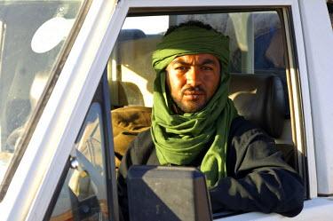 IBLGUF00088519 Libyan jeep driver Al Awaynat Libya