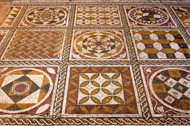 IBLGUF00242150 Ancient mosaics, Roman Villa Silini, Villa Sileen, Leptis Magna Libya