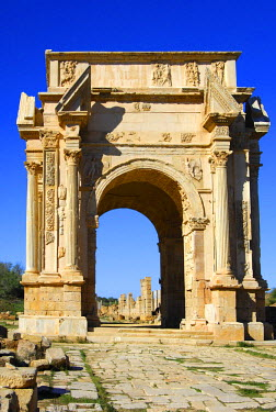 IBLGUF00277261 Arch of Septimus Severus Leptis Magna Libya