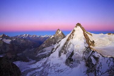 INT00926586 Switzerland, Dent d'Herens (4171m) from tete de Valpelline at sunrise, Zermatt, Valais,
