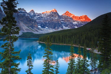 INT01108710 Canada, Moraine brine, Banff national park, Alberta,