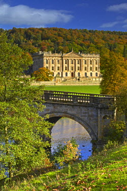 INT01131274 Great Britain, England, Chatsworth, A view of Chatsworth House.