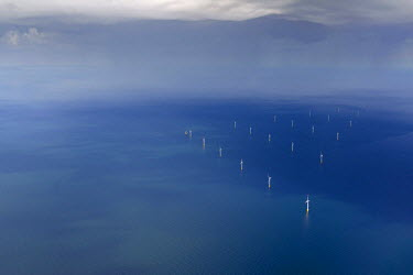 IBLBLO03092990 Aerial view, EnBW Baltic 1 offshore wind farm in the Baltic Sea, Darsser Ort, Darss, Fischland-Darss-Zingst, Mecklenburg-Western Pomerania, Germany