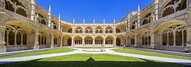 IBLBLO03715046 Manueline cloister by Joao de Castilho, Mosteiro dos Jeronimos, Jeronimos Monastery, UNESCO World Cultural Heritage Site, Belem, Lisbon, Lisbon District, Portugal
