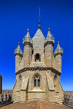 IBLBLO03715223 Tower of the Cathedral Basilica Se de Nossa Senhora da Assuncao, Catedral de Evora, Evora, Evora District, Portugal