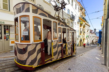 IBLBLO03715276 Ascensor da Gloria funicular, Baixa, Lisbon, Lisbon District, Portugal